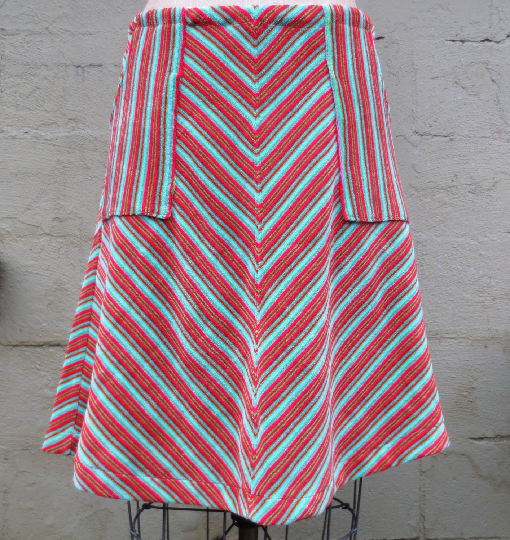 pocket-chevron-skirt
