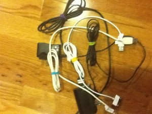 Easy Way to Pack Electronic Charging Cords