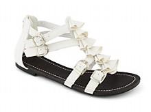 white ruffle sandal