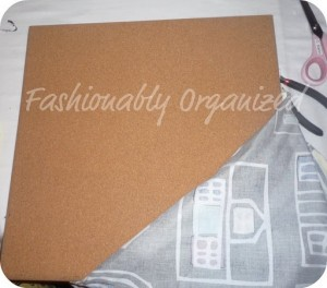 Fabric Covered Cork Board in 30 Minutes
