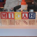 DIY Alpha Bet Wood Block Menorah