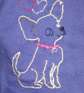 embroidered chihuahuas i made this