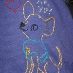 I Made This: Embroidered Chihuahua Love