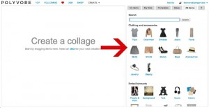 Polyvore category choices