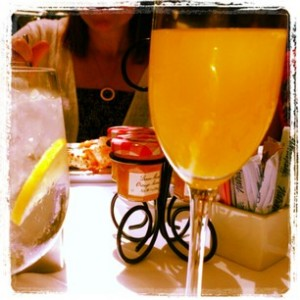 hanging out with my friends and mimosas is a perfect stylish day