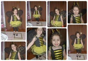 bumble bee marked collage