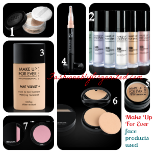 make up for ever face products