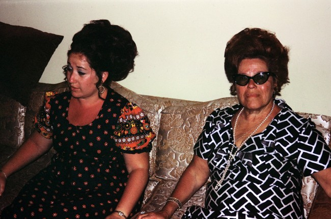 my mom and grandmother (her mom)