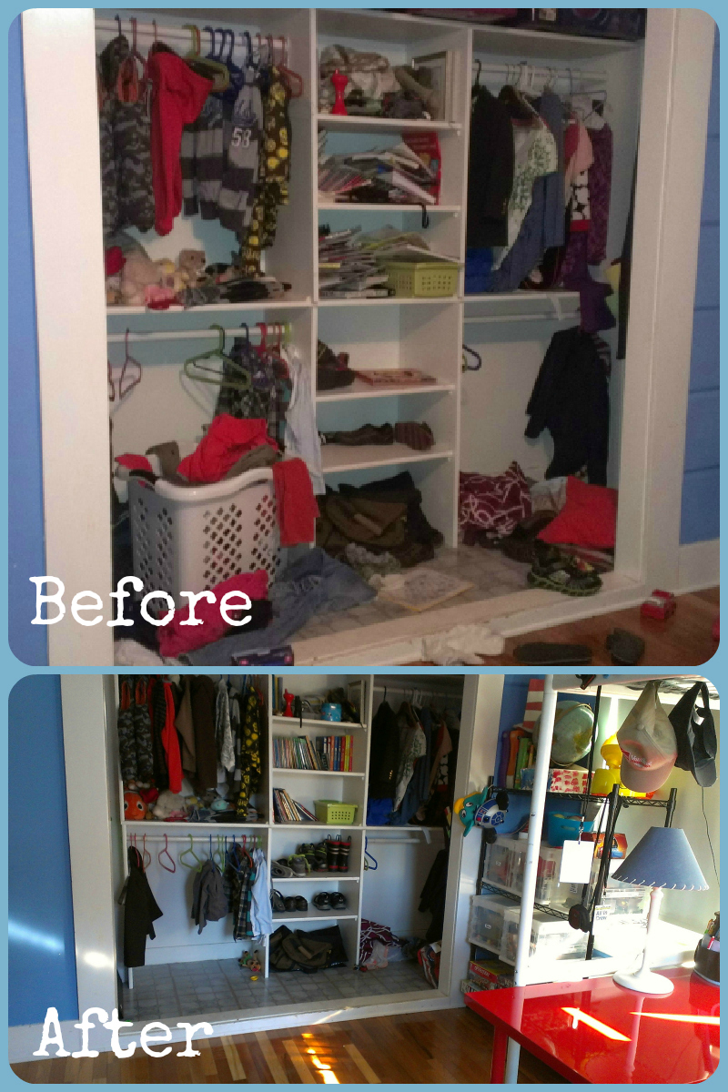 Closet before and after1