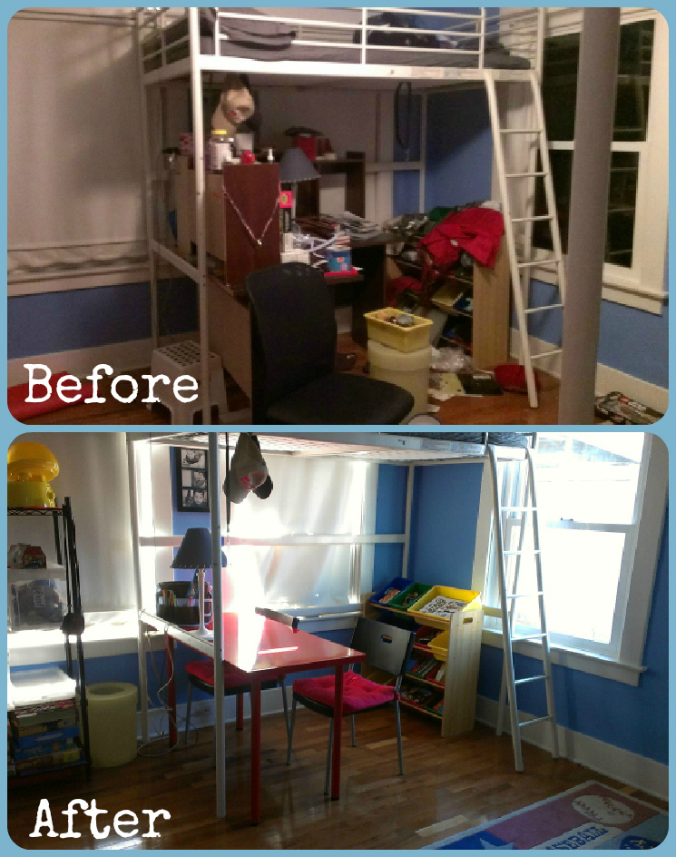 desk before and after1