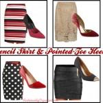 Pencil Skirt & Pointed-Toe Heels