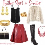Leather Piece + Sweater = Great Outfit #FashionFriday
