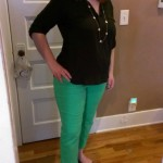 Green Jeans For Spring #WordlessWednesday