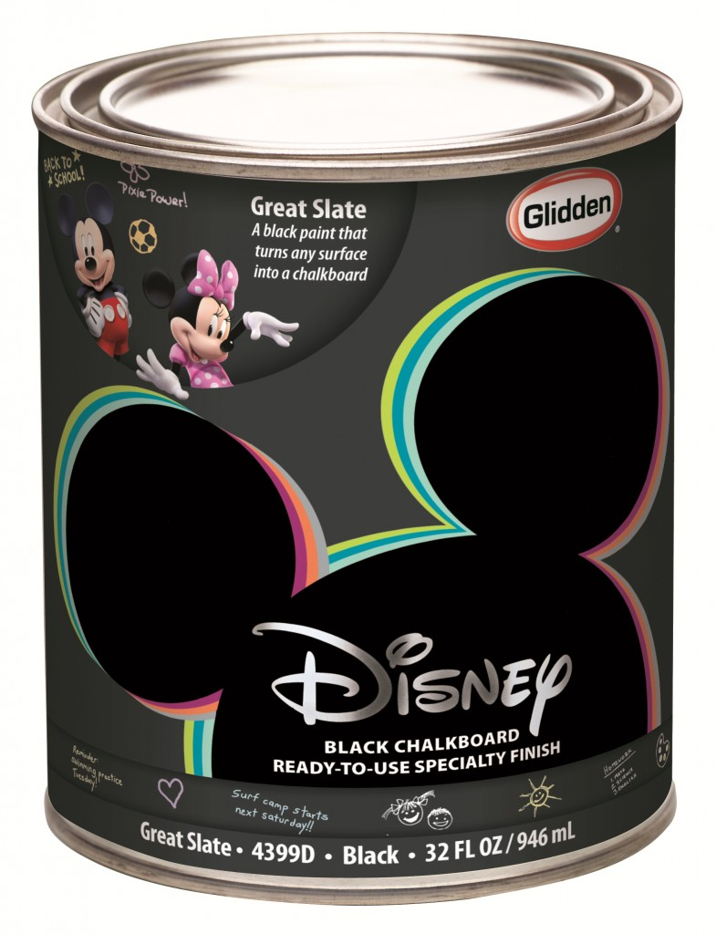 Disney Paint - Great Slate Black Specialty Finish Quart Can Cut