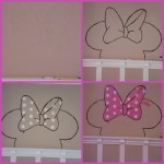 Minnie Mouse Outlining Collage