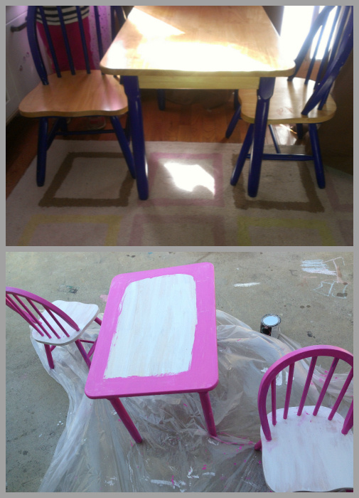 Table and Chairs Collage
