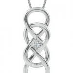 Helzberg Diamonds Infinity x Infinity Diamond Necklace