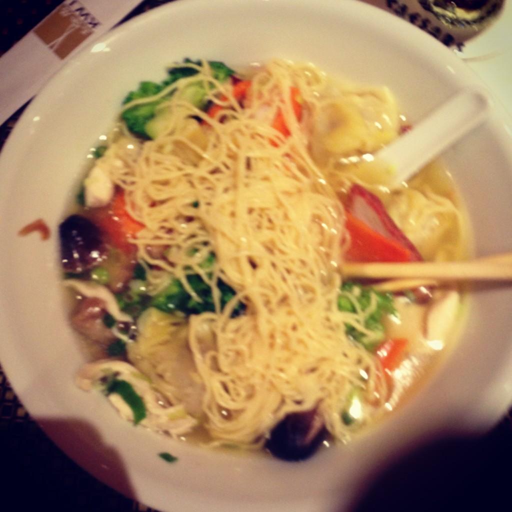 War Wonton soup