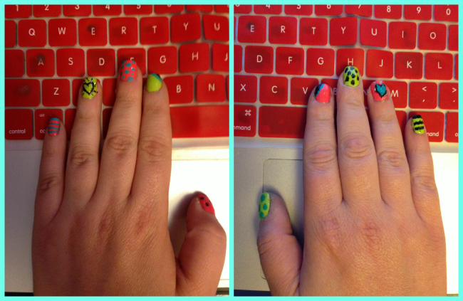 Nail Art on keyboard