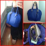 blue purse collage