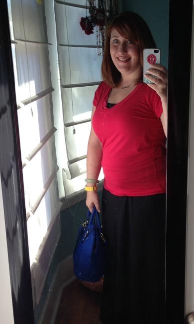 me & blue purse