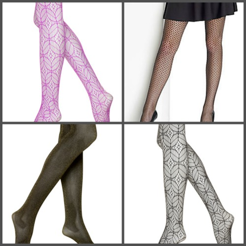 patterned tights collage