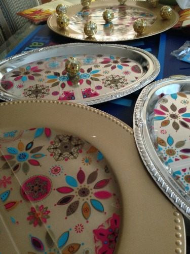 decorated trays