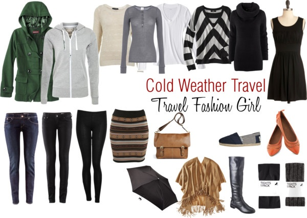 fashion girl cold weather travel